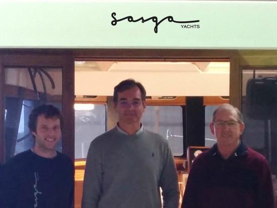 Mr.Paul Flannery, Mr. José Luis Sastre & Sasga Yachts' team