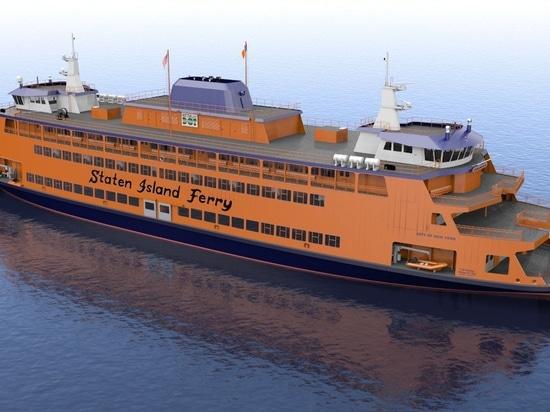 Artist's rendering of new Ollis Class Staten Island Ferry