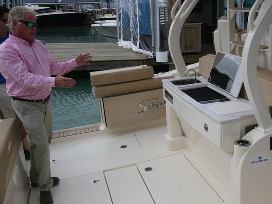 NEW Scout 380 LXF Debuts at Miami Boat Show Featuring a Kenyon Grill