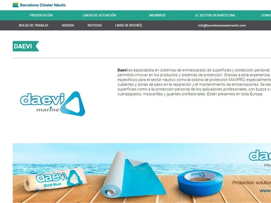 This year Daevi will be present in the marine sector thanks to the Barcelona Nautical Cluster