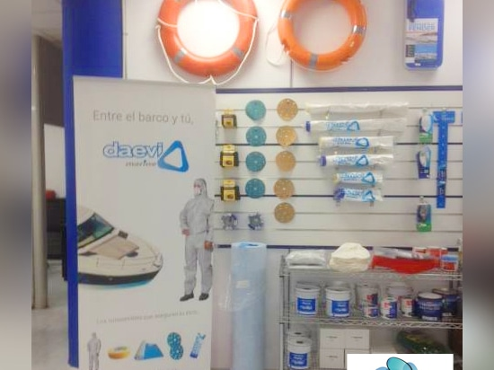 Showroom Daevi's product in BCN Marine Store
