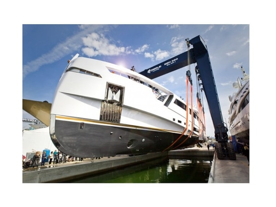 Rossinavi launches 49m M/Y Aurora