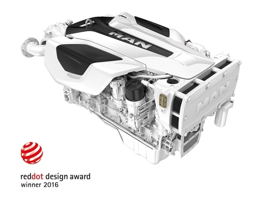 Distinguished for their exceptional product design: The MAN i6-800 and i6-730 for yachts and sport fishing boats.