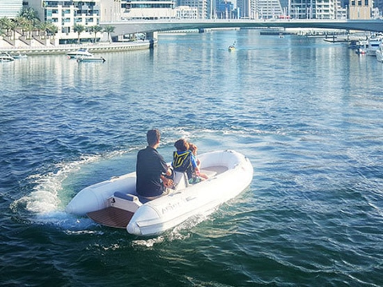 NEW: electrical inflatable boat by ASIS BOATS