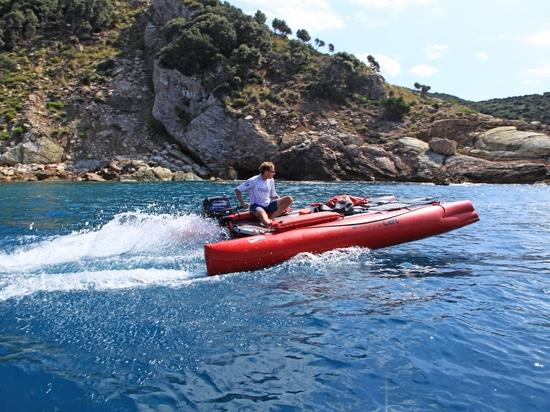Stern Motor Mount for the Inflatable Catamaran HAPPY CAT HURRICANE
