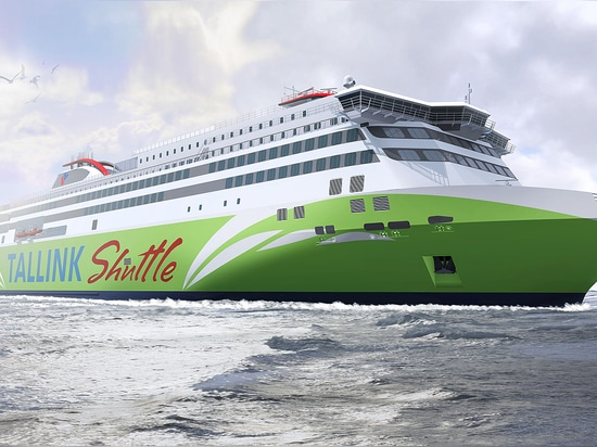 The Production of a New Generation LNG Powered Fast Ferry for Tallink Started at Meyer Turku