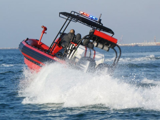 An Airport in Asia receives ASIS Fire and Rescue Boats.