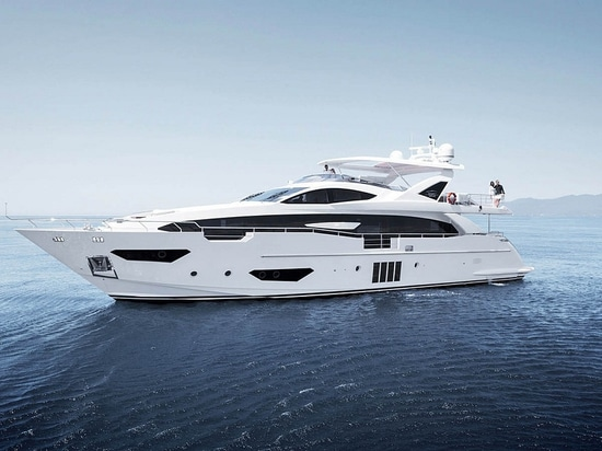 The Azimut Yachts Grande 95RPH, the most expensive at MIBS (Courtesy of Azimut Yachts)