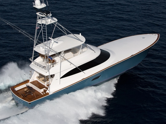 Vectorply, a producer of composite reinforcements, worked with several other companies to help Viking Yachts develop a lighter, stiffer, faster yacht in the Viking 80 CC sportfisherman (24m), shown...
