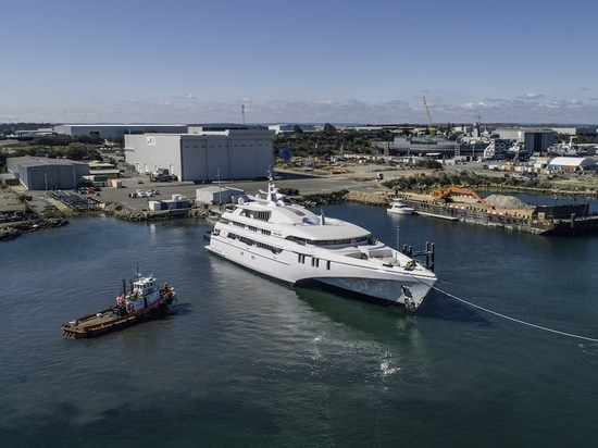 World's biggest tri-hulled yacht White Rabbit launched