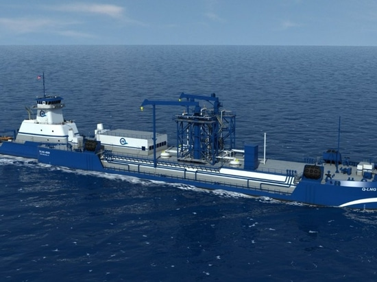Articulated tug/barge bunkering vessel will be built on speculation. Q-LNG photo