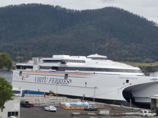 INCAT TASMANIA LAUNCHES VIRTU FERRIES 110M SHIP SAINT JOHN PAUL II