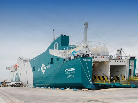 Hypatia de Alejandría is first LNG fueled ferry in service on the Mediterranean