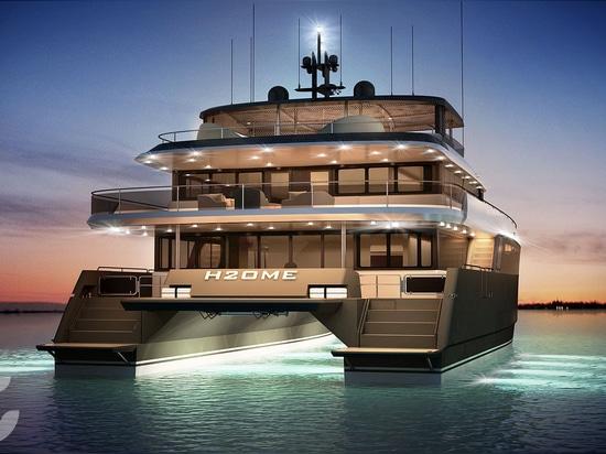 Amasea Yachts' 25m tri-deck catamaran concept