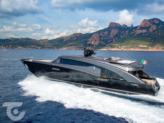 Onboard Roberto Cavalli's 28m yacht Freedom