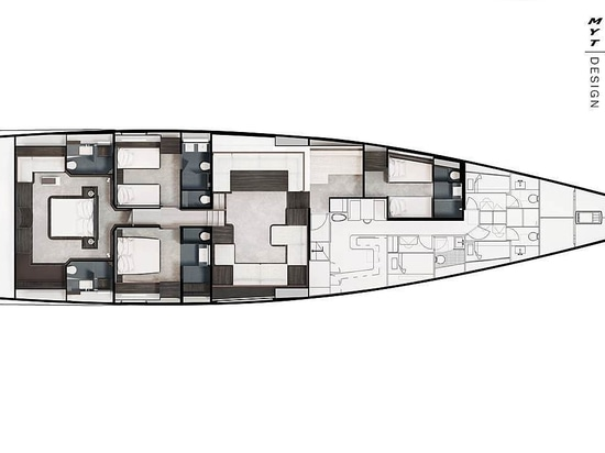 34m Solaris 111 sailing yacht under construction at Performance Boats