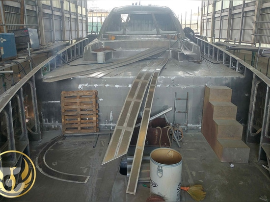 Construction underway on the 40m superyacht Phoenix 130