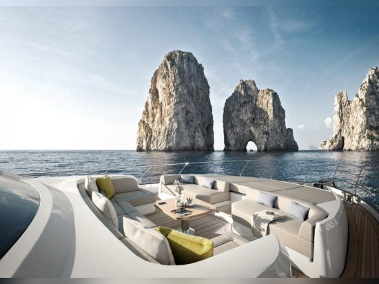 The spacious foredeck looks set to be a popular spot for relaxing al fresco
