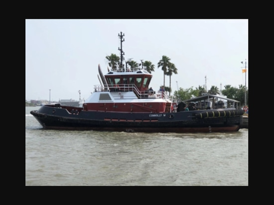 The vessel will be operated by G&H Towing on behalf of Bay Houston Towing. Gulf Island Fabrication photo