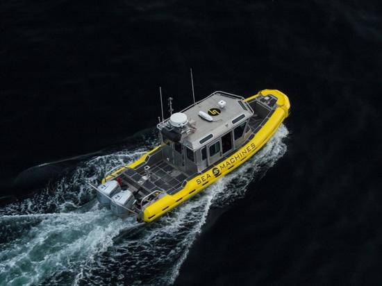 Sea Machines' SM300 autonomous vessel control system demonstrator