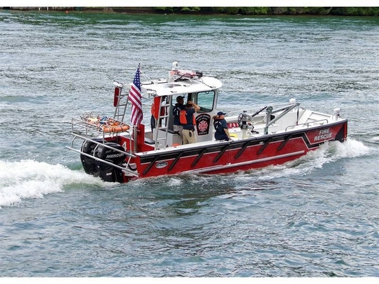 Fireboat protects homes and facilities around a 26 mile shoreline