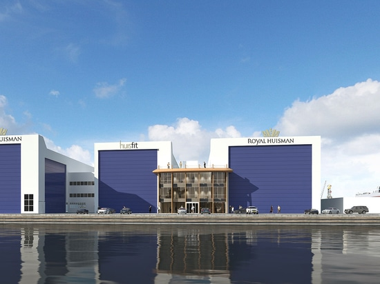 Royal Huisman shipyard in Zaandam rendering