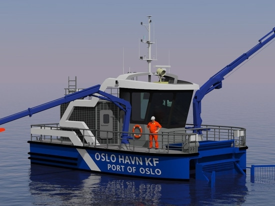 Battery provider announced for world's first all-electric harbor rubbish collection boat