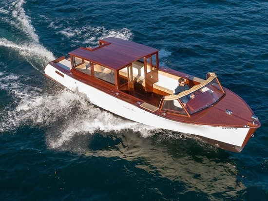 Electric rental yacht powered by Ecovolta launches on Lake Como
