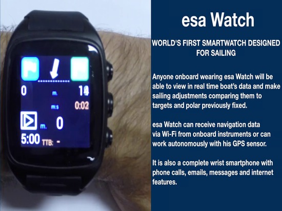 esa Watch: world's first smartwatch designed for sailing
