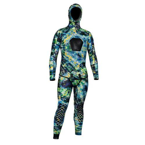 水中狩猟ウェットスーツ / 2 ピース / フード付き / 男性用