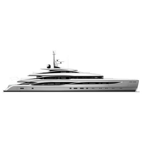 クルージングメガヨット / 高部操舵室 / スチール製 / アルミニウム