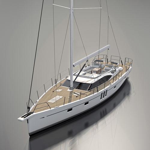 クルージング帆船 / ブリッジサロン / バウスプリット / ツインステアリングホイール