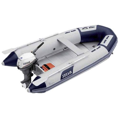 船外インフレータブルボート / 折り畳み式 / 5人 / アルミニウム床材