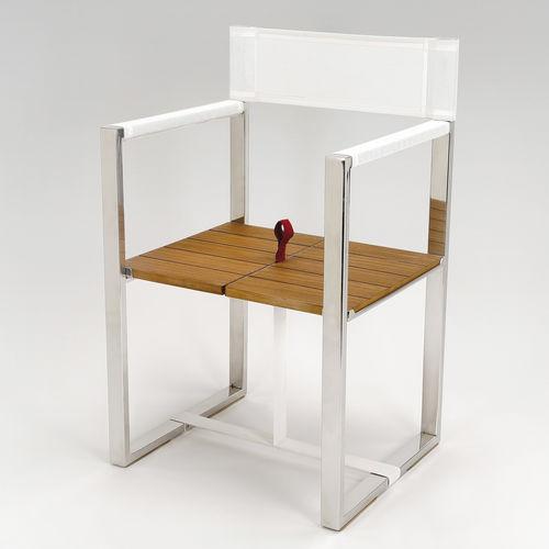 ボート用折りたたみ椅子 / 折畳み / チーク材 / ステンレススチール製