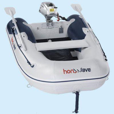 船外インフレータブルボート / 折り畳み式 / 釣り用 / 2人