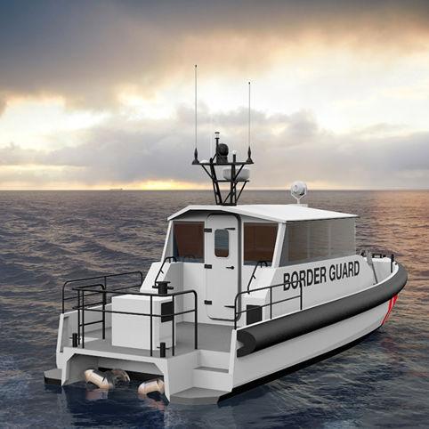 監視船 / インボードウォータージェット / アルミ製 / 複合艇
