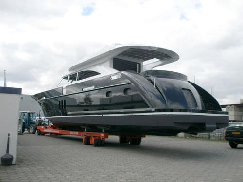 大型ハンドリングトレーラー / 造船所用 / 全ステアリングホイール