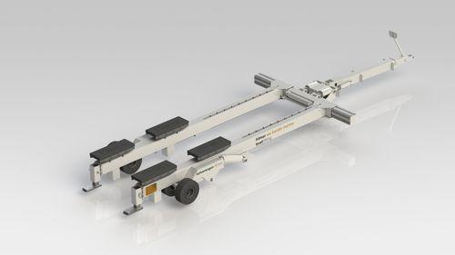 ランチングトレーラー / ハンドリング / 造船所用 / 油圧式