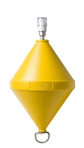 水路標識用ブイ / 遊泳可能範囲 / 警告灯付 / プラスチック製