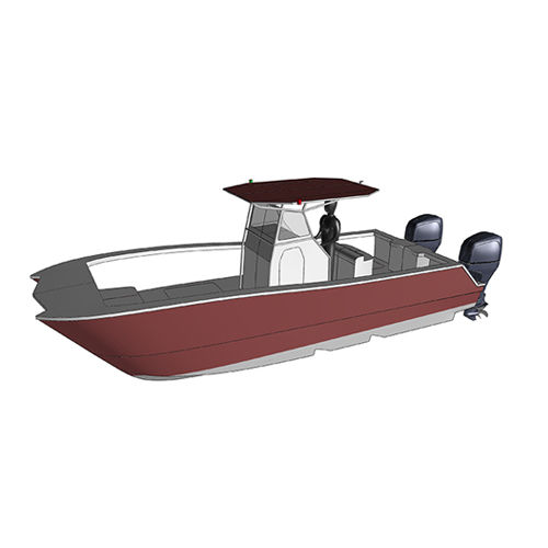 スポーツ釣りセンターコンソールボ-ト / カタマラン / 船外 / ツインエンジン