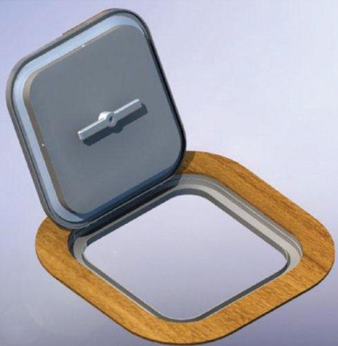 ボート用デッキハッチ / 長方形 / オープン