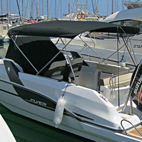 モーターボート用ビミニトップ / コックピット / ステンレス鋼フレーム