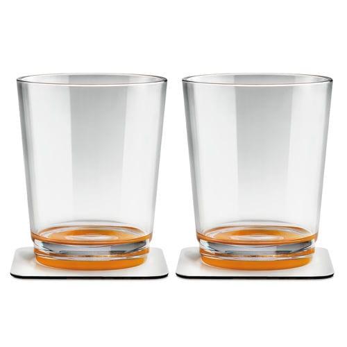 プラスチック製グラス / オレンジ / 磁石付