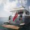 クルージングモーターヨット / 探検 / フライブリッジ / 高部操舵室