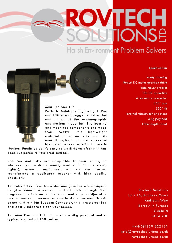 Rsl Lightweight Pan Tilt Rovtech Solutions Pdf Catalogues 4 Way Switch Internal 1 Pages