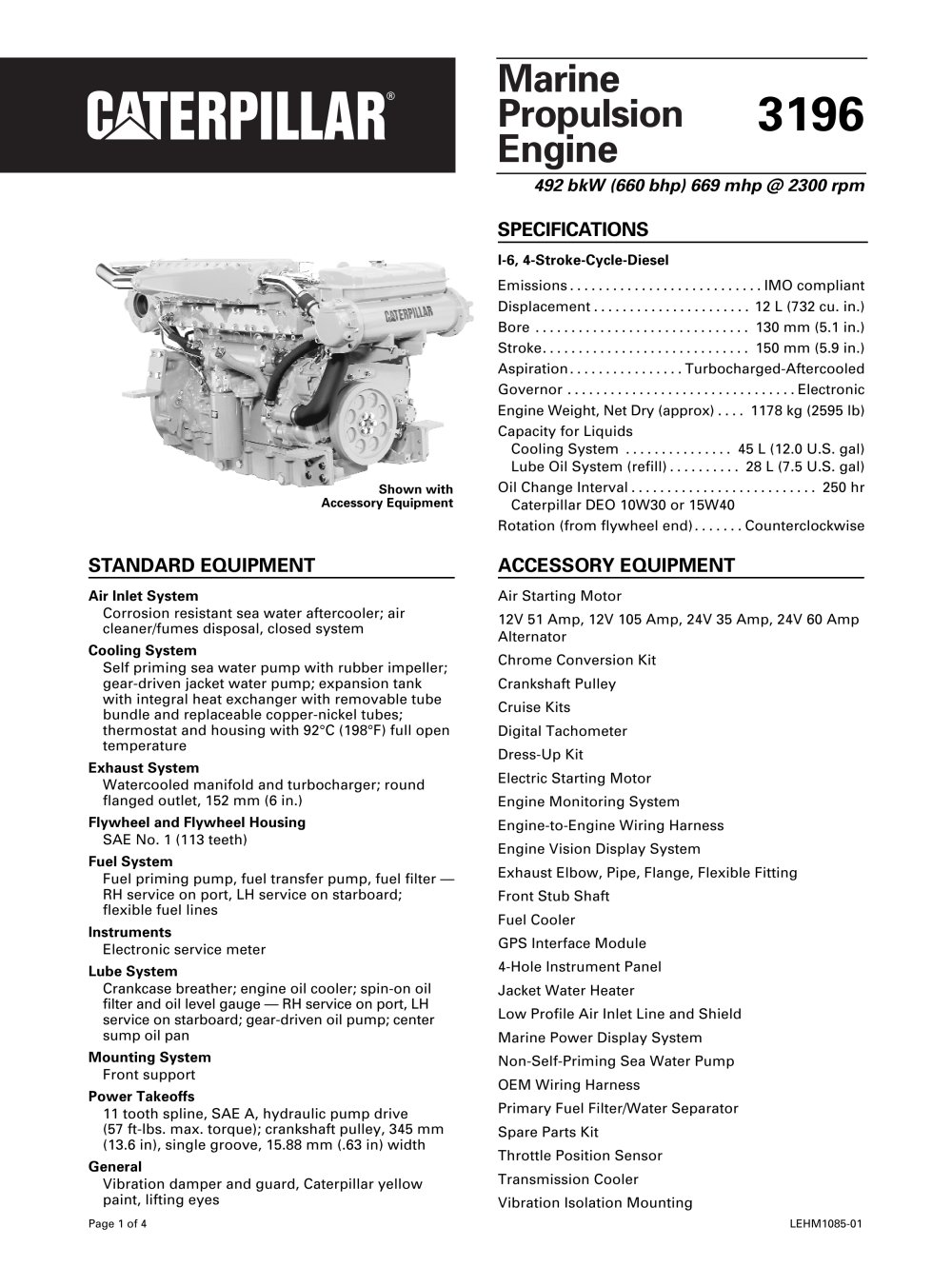 cat propulsion caterpillar marine power systems pdf cat 3196 propulsion 1 24 pages