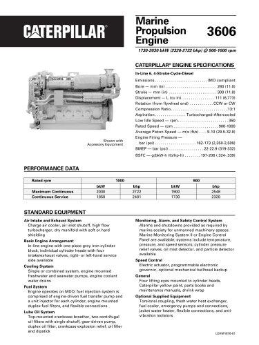 Cat 3606 Propulsion Spec Sheets