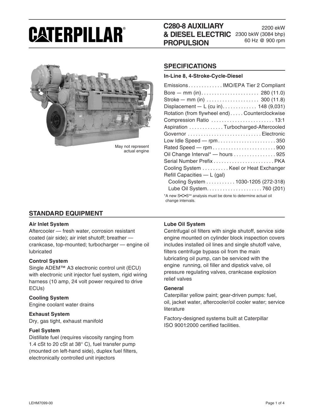 Cat 3046 Engine Diagram Trusted Wiring Diagrams 3034 C280 8 Genset Spec Sheet Caterpillar Marine Power Systems Rh Pdf Nauticexpo Com