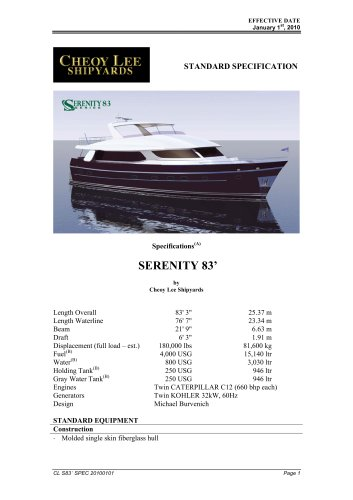 SERENITY 83