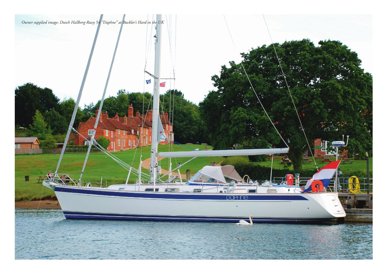 "Owner supplied image; Dutch Hallberg-Rassy 54 ""Daphne"" at Buckler's Hard in ..."